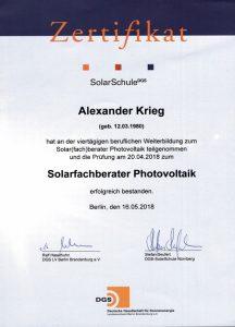 DGS-zertifikat-cesolar